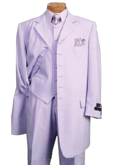 Mens Lavender One Chest Pocket Fashion Zoot Suit