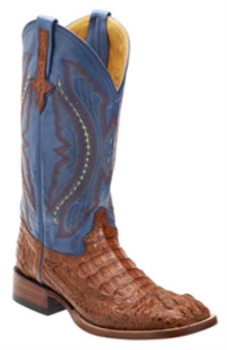 SKU#SH745 Mens caiman ~ alligator Square Toe Western Boots $357
