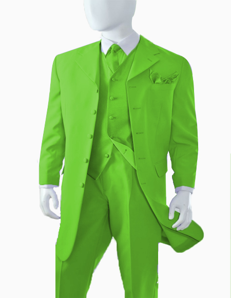 Mens Apple Green  Zoot Suit