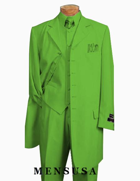 Men's Apple Green Six Button Zoot Suit