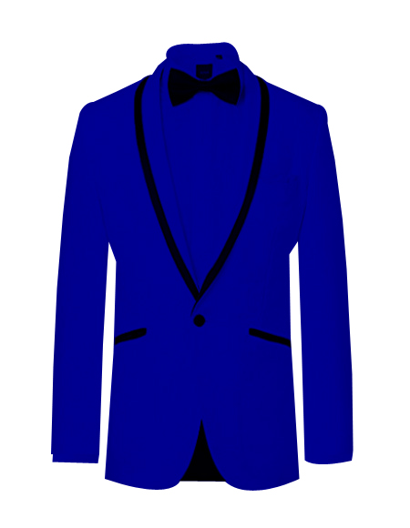 Prom ~ Wedding Tuxedo Dinner Jacket Royal/Black Trim