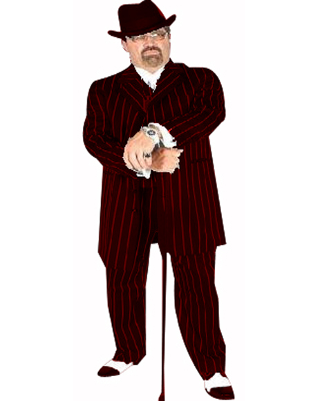 Pimp Suit Black/Red Coming Sep/15/2020 Zoot Suit Pre Order Limited Collection