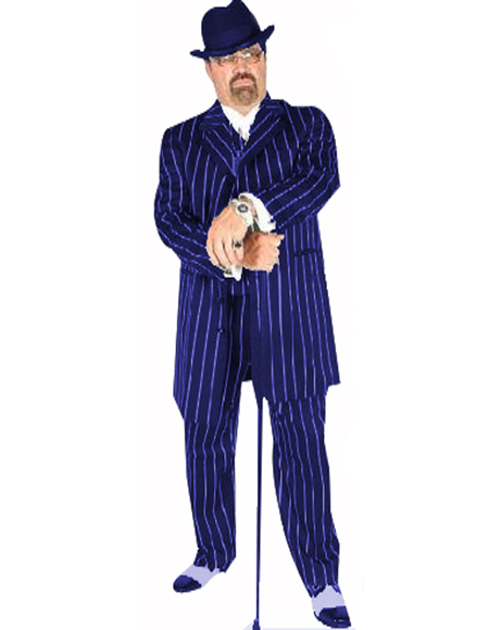 Pimp Suit Royal Blue/White Pinstripe Coming Sep/15/2020 Zoot Suit Pre Order Limited Collection