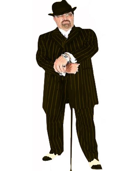 Pimp Suit Black/Gold Coming Sep/15/2020 Zoot Suit Pre Order Limited Collection