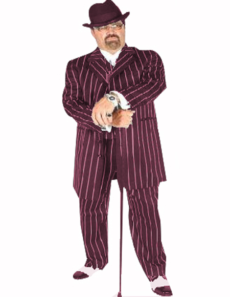 Pimp Suit Burgundy/White Coming Sep/15/2020 Zoot Suit Pre Order Limited Collection