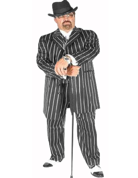Pimp Suit Gray/with Black Pinstripe Coming Sep/15/2020 Zoot Suit Pre Order Limited Collection