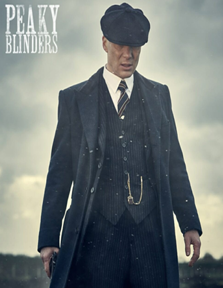 Brand New Quality 1920's English Style Peaky Blinders Style Vested Peaky Blinders Suit - Peaky Blinders Outfit + Overcoat + Hat (Peaky Blinder Custome)