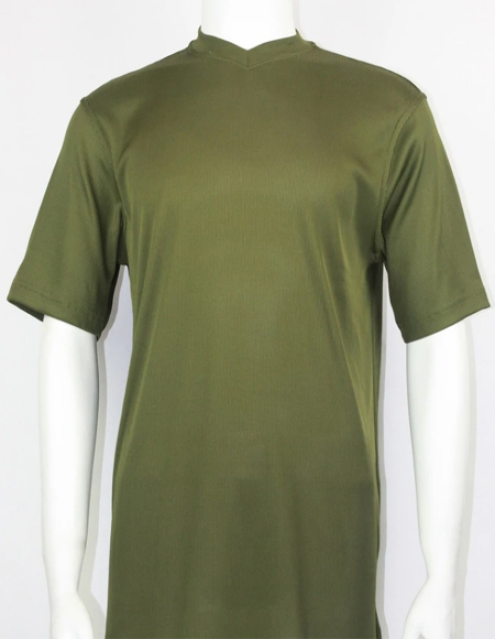 Men's Olive Green Bassiri Short Sleeve Shirts