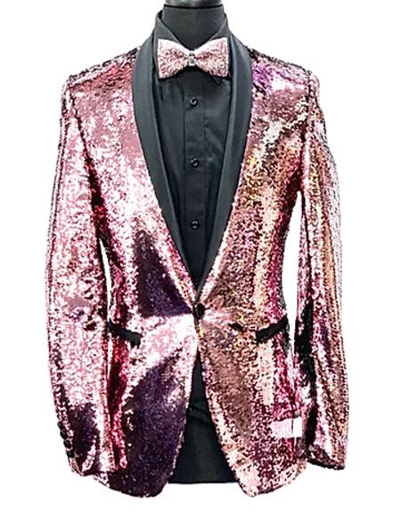 Pink Paisley  Fashion Mens Blazer