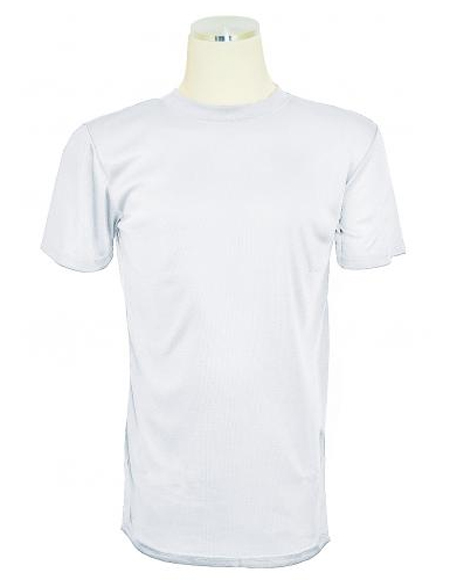 Mens Off-White Tricot Dazzle Short Sleeve Mock Neck T.Shirt