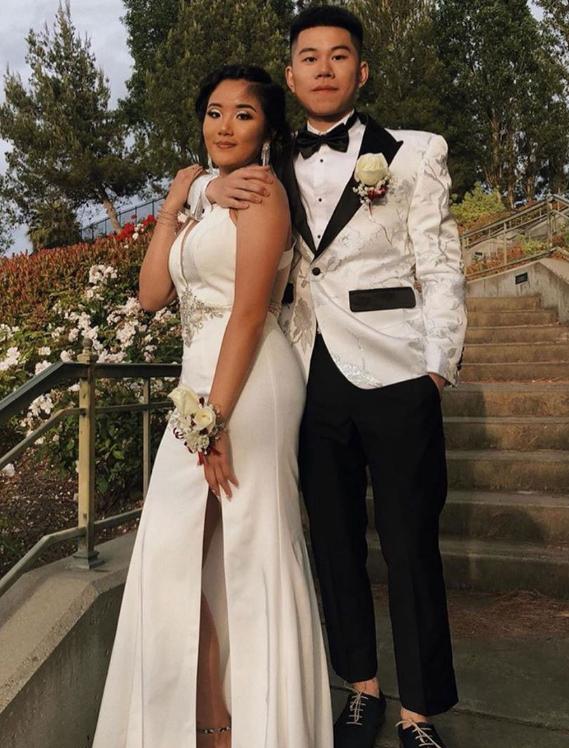 Cream Prom / Wedding Paisley Fashion Fancy Floral Fashion