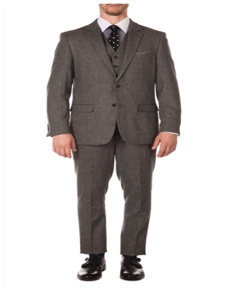 Mens Grey British Herringbone Fabric Peak Blinder Slim Fit Suit