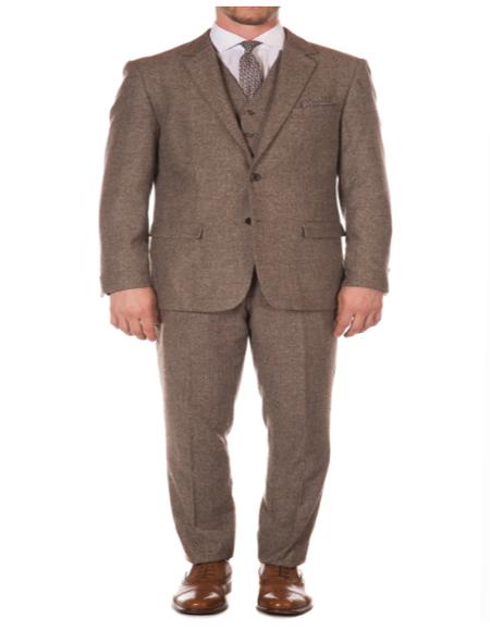 1920s 1910s Peak Blinder Custom Vested Suit Vintage Slim Fitted Blazer and Pants and Vest Brown