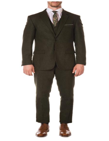 Hunter Green Super Slim Fit Peak Blinder Custom Vested Suit