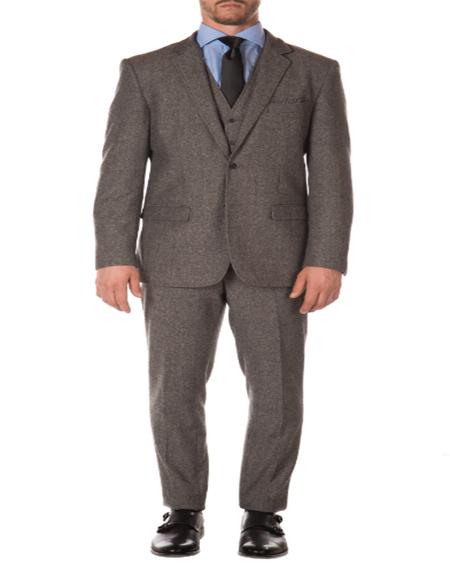 Tweed 3 Piece Suit - Tweed Wedding Suit Mens Slim Fit Suit - Fitted Suit - Skinny Suit Grey Imported British Tweed Fabric Peak Blinder Custom Vested Suit
