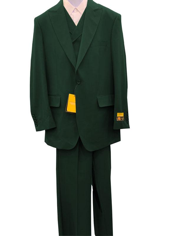 Hunter Peak Lapel 1 Button Wool Fabric Suit