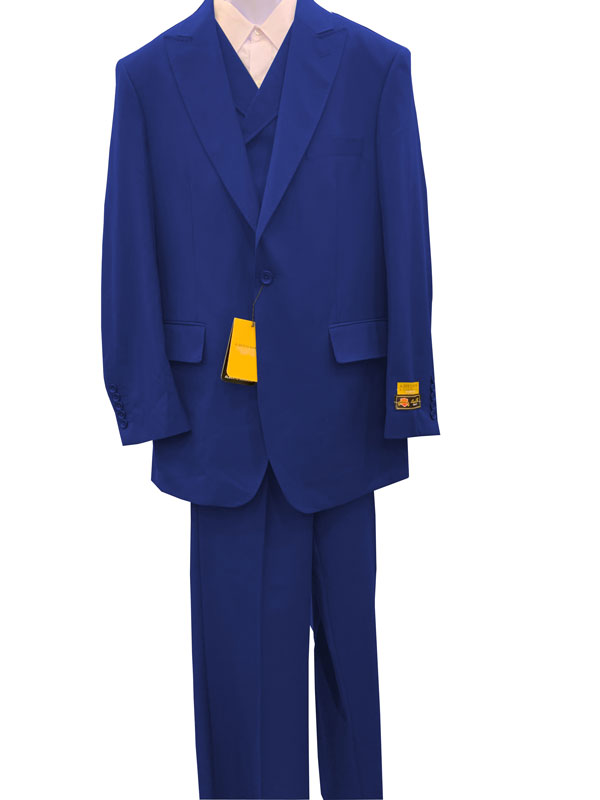 Sapphire Double Breasted 1 Button Wool Fabric Suit