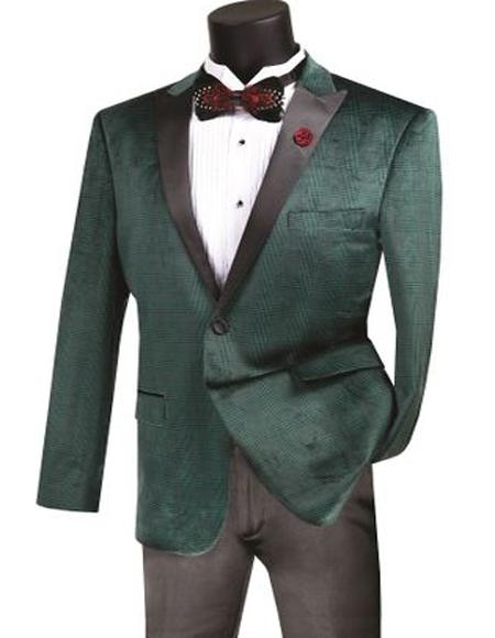 Men's Emerald One Button  Dinner Tuxedo