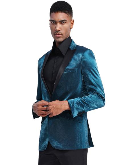 Turquoise Prom ~ Wedding Tuxedo Jacket