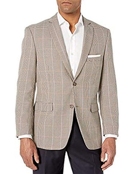 Plaid Mini Checker Blazer Sport Coat Wool Blazer