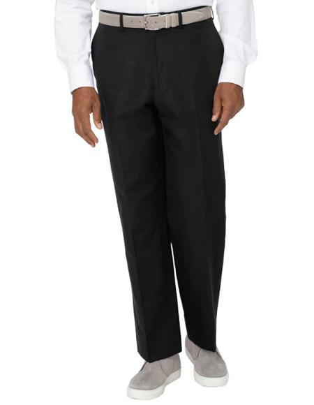 Men's Linen Pants Black