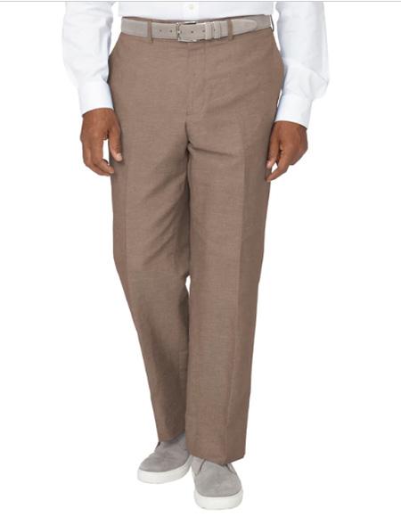 Men's Linen Pants Brown