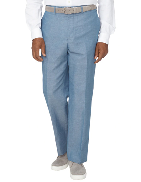 Men's Linen Pants Dusty Blue