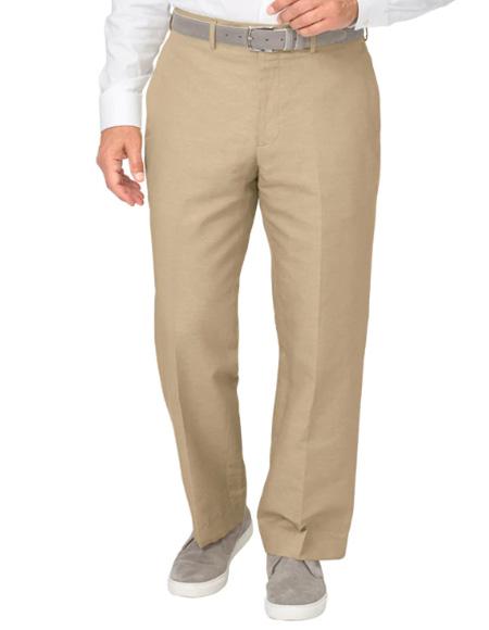 Men's Linen Pants Khaki