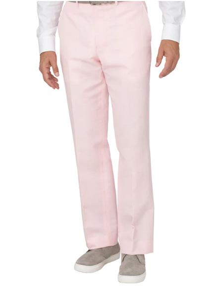 Men's Linen Pants Pink