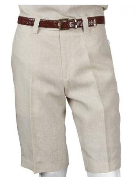 Men's Linen Pants Oatmeal