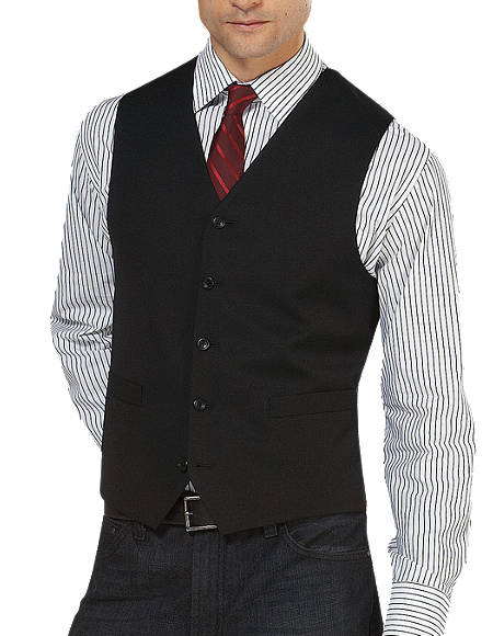 Black 5 Button Besom pocket Platinum Suit