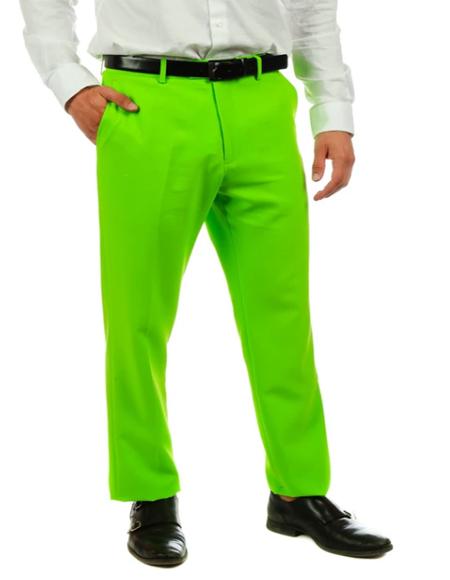 Men's Lime Green Suit Pants