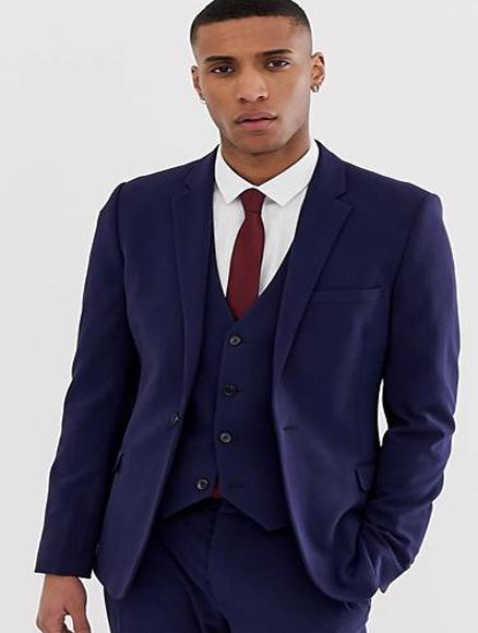 Navy Wool Fabric Shorter Sleeve~ Shorter Jacket