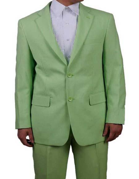 Men's Lime Green Suit
