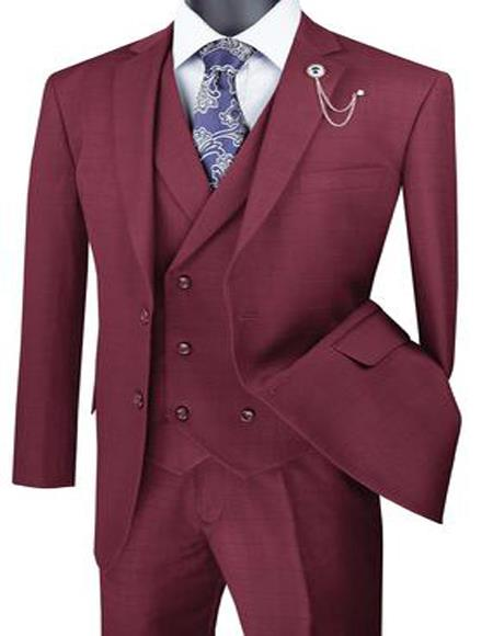 Big And Tall Solid Color Mens Plus Size Mens Suits For Big Guys