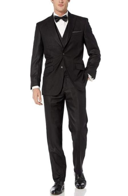 Suits With Double Breasted Vest Peak Lapel Modern Fit 3-Piece (Jacket, Vets, Trousers)