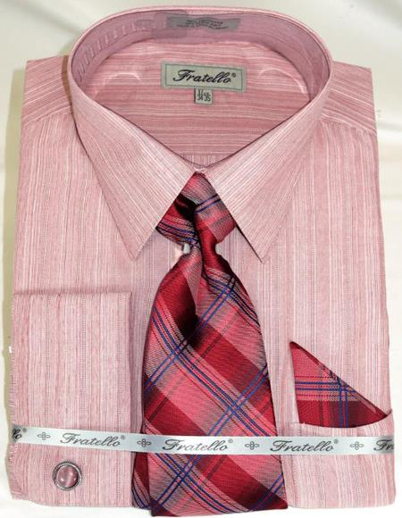 Red Colorful Men's Dress Shirt