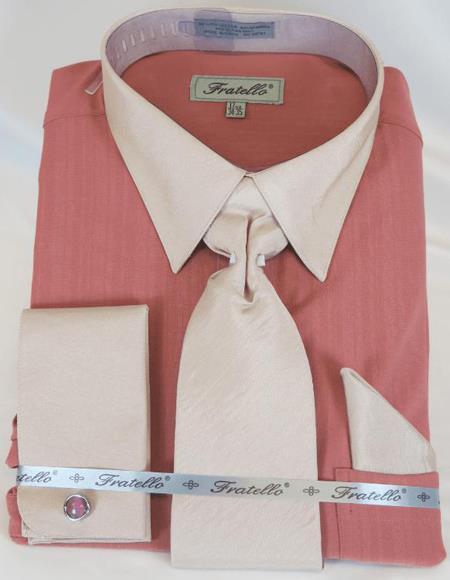 Rose Multi Colorful Men's Dress Shirt