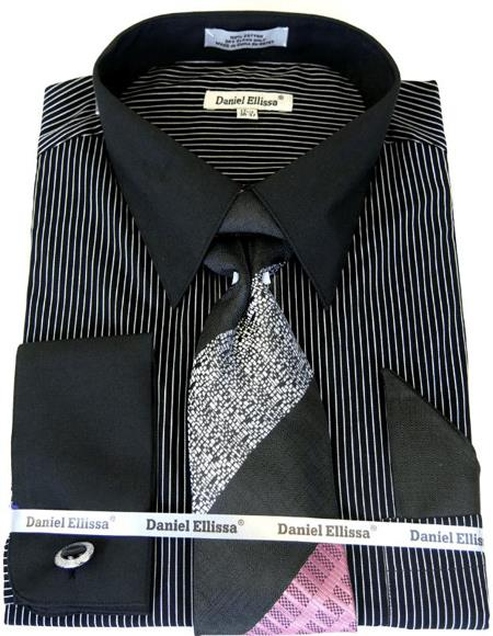 Black Colorful Mens Dress Shirt