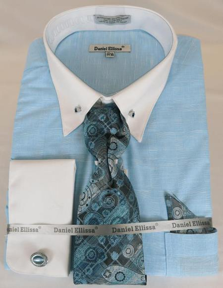 Teal Colorful Men's Dress Shirt