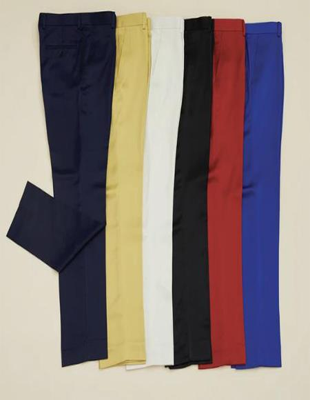 Super Slim Fit Shiny Pants with Stretch