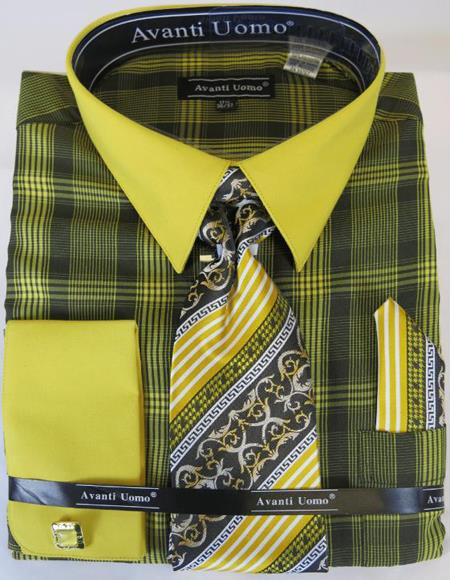Black Gold Colorful Men's Dress Shirt