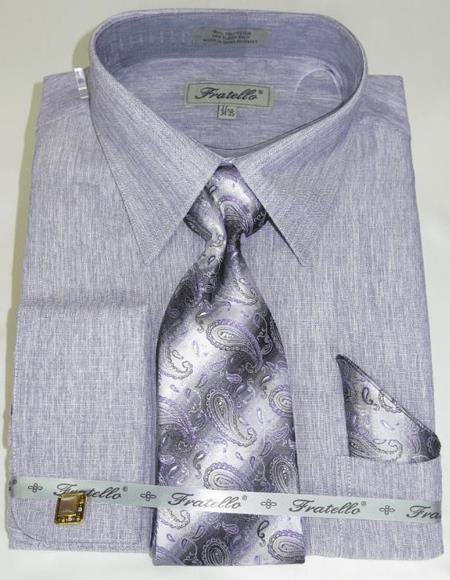 Lavender Colorful Men's Dress Shirt