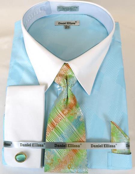 Mint Colorful Men's Dress Shirt