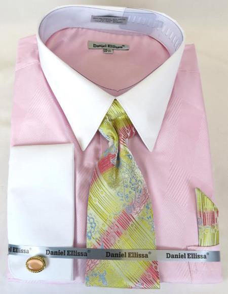 Pink Colorful Men's Dress Shirt