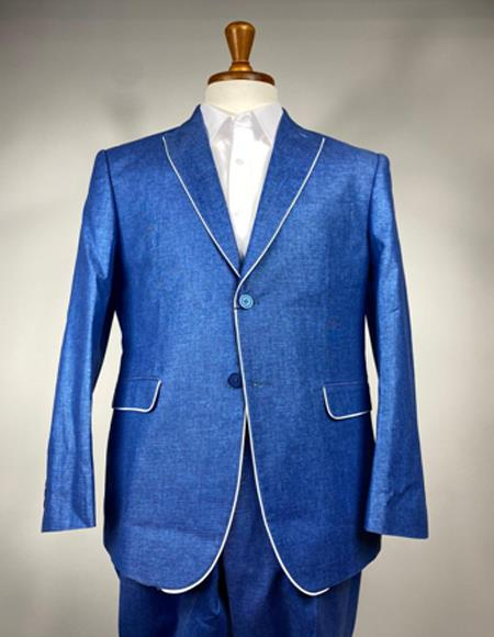 Royal Blue Linen Summer Tuxedo