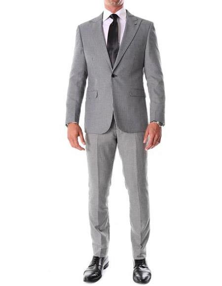 Gray Houndstooth ~ Herringbone ~ Tweed Suits Slim Fitted