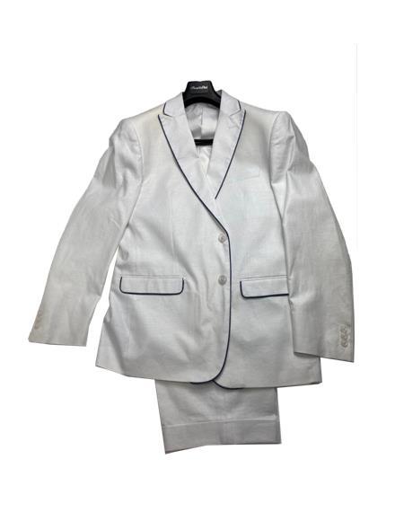 White Color Men's Linen Fabric Summer Business Suits With Shorts Pants Set