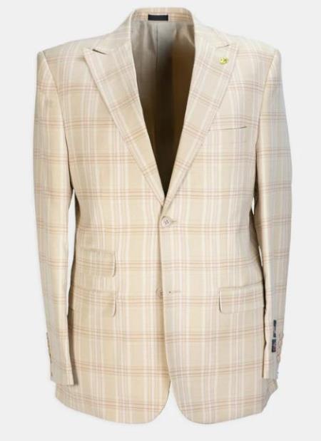 3 Piece Peak Lapel Plaid Affordable Cheap Priced Men's Dress Suit For Sale