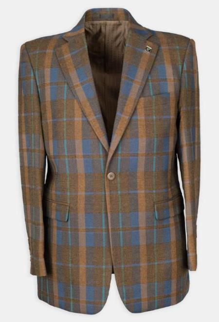 3 Pc  Plaid Affordable Cheap Priced Mens Dress Suit For Sale